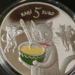 ラトビアの5ユーロ銀貨ほしい・・・