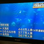 NHKニュース(水戸)見てたらこんなのが  大洗町圧倒的だなあ…