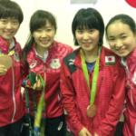 オリンピック女子の試合が終わりました。今回はリザーブと言う立場でリオに来させてもらってたくさん刺激を受けました!みまちゃんがメダルかけてくれたありがとうございます