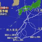 【非常に強い台風10号 進路は】 台風10号の5日先までの進路予報です。