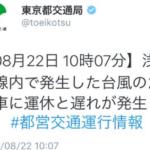 東京都交通局さん曰く、台風は京急線内で発生したらしいです。