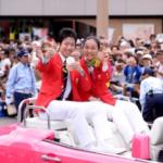 今日は地元磐田市でのパレードや出身校の磐田北小学校での報告会炎天下の中たくさんの方に来て頂きありがとうございました‼︎