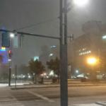 現在の札幌大通公園の様子です。 気温2℃、猛吹雪です。