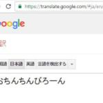 試しに新しいGoogle翻訳を使ったらホントに出て変な笑い出た