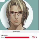 メガネのJINSがAIで似合うメガネ判定してくれるJINSBRAINっていうのがあるんだけど、正面絵あれば二次元でもぜんぜんいけるぞ!