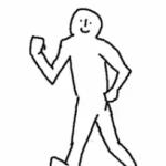 歩くのがだんだん速くなる人