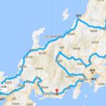 日本一長い環状コースを検討した結果、3,128㎞となりましたw