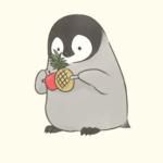 「とりあえずこれ持って」と持たされたものの、何だか全然わからない子ペンギン