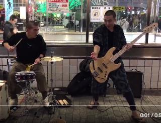 今度は渋谷でエグい2人組を見つけた。#京陸