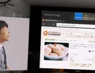 HoloLensつけながら、Youtubeで動画見ながらレシピ見ながらキッチンで料理。