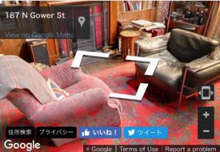 ねええええええええ、Sherlockの221Bのお部屋の中がGoogleストリートビューで見れるようになってるんですけど????