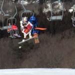 スキーに行ってるお兄ちゃん様から届いた現地の写真を見て寝起きの脳が混乱している