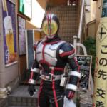 外に仮面ライダーがいた!!