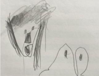 幼稚園の娘が「こういうお弁当にして!」と自ら図面を描いてきたので、注文通りのお弁当にした。