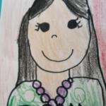 アメリカ育ちの娘が学校で書いてくる自画像なのだが