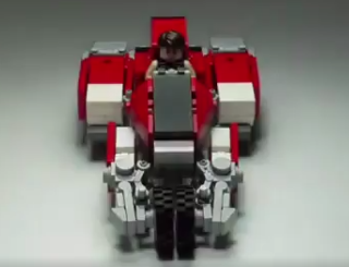 LEGOで、複雑な変形のガーランドを…凄い!