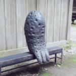 今日行った神社の謎のオブジェが気になった