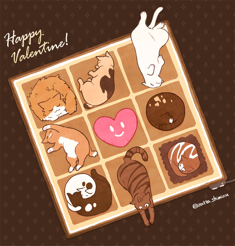 ハッピーバレンタイン!ということで猫アソートです。