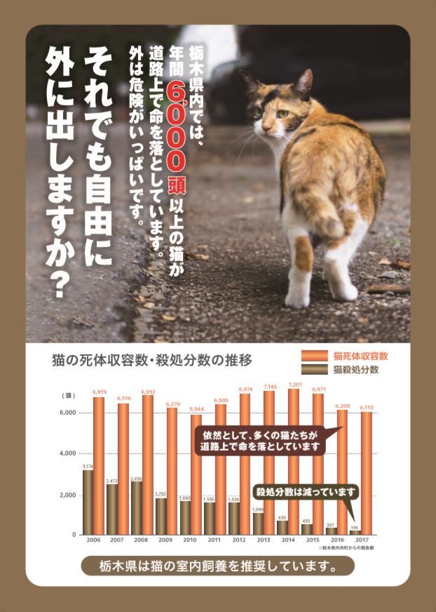 栃木県動物愛護指導センターのチラシがよくできてるから見て。