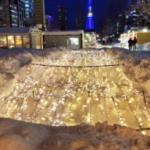 【悲報】札幌の大通公園イルミネーション、大雪で埋もれる。
