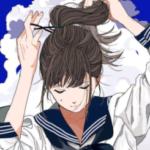 髪の毛が首にくっついてやだ